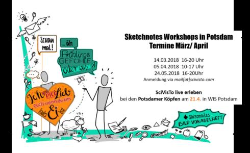 sketchnotes workshops march april